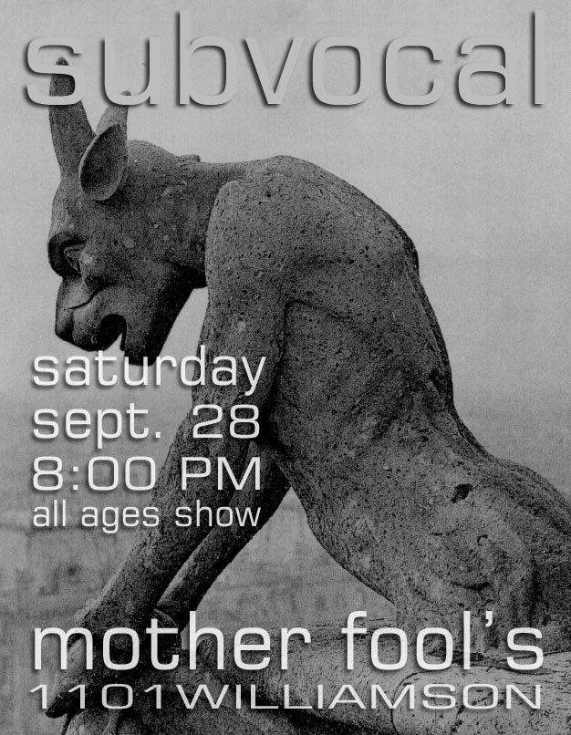 Subvocal at Mother Fool's