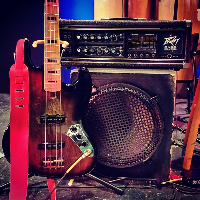 My bass rig for Friday's gig. Don't look like much, but she sings true.